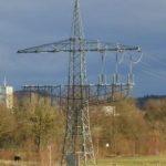 Mast einer Hochspannungsleitung in Markdorf