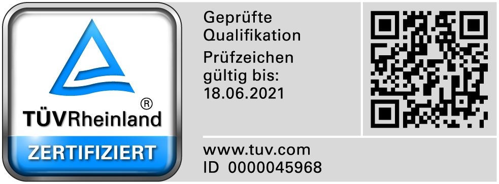 TÜV Signet 2018